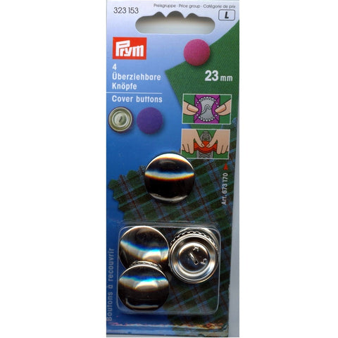 Prym Metal Cover Buttons - 23 mm