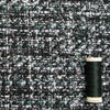 Aubrey Grey, Green, Black and White Tweed - Only 2.25 m Left!