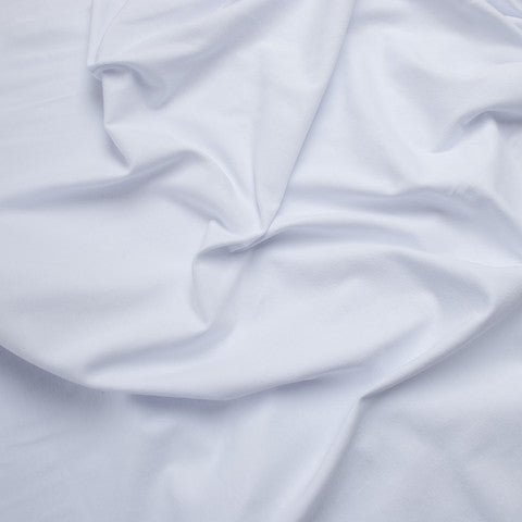Sample of White Cotton Jersey