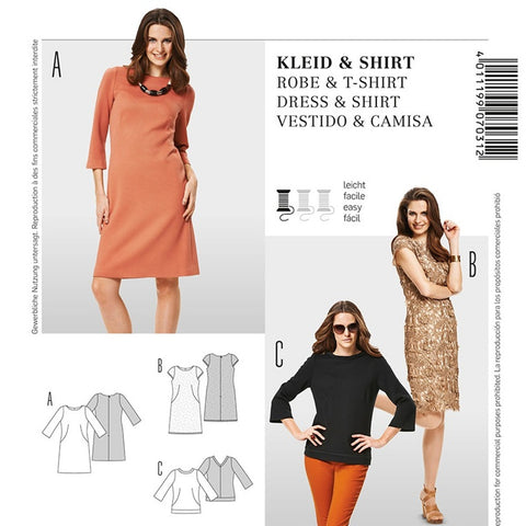 Burda 7031 Top and Dress