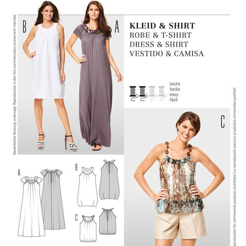 Burda 7200 Dress and Top