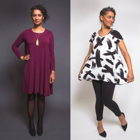 Closet Case Patterns Ebony T-Shirt and Dress