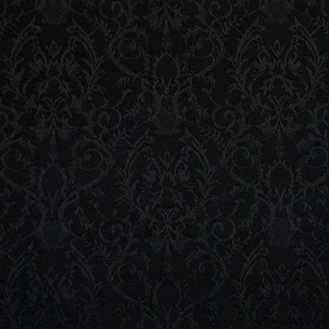 Black Brocade - 102 cm Remnant (Small Flaw)