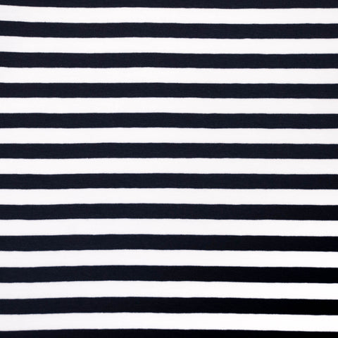 Vivianne Navy and White Striped Cotton Jersey