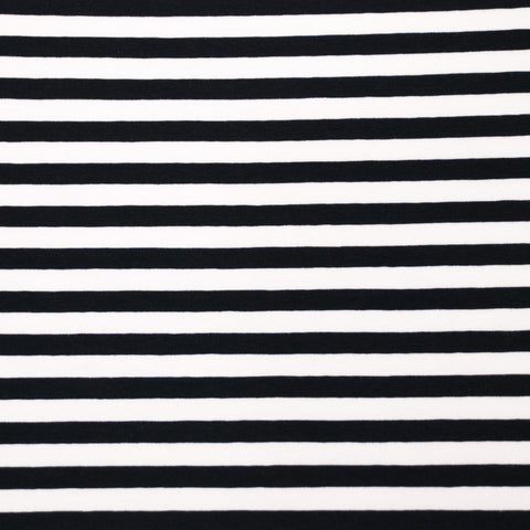 Vivianne Black and White Striped Cotton Jersey