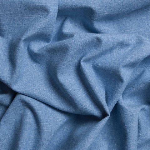 Josselin Light Blue Chambray - Only 1.75 m Left!