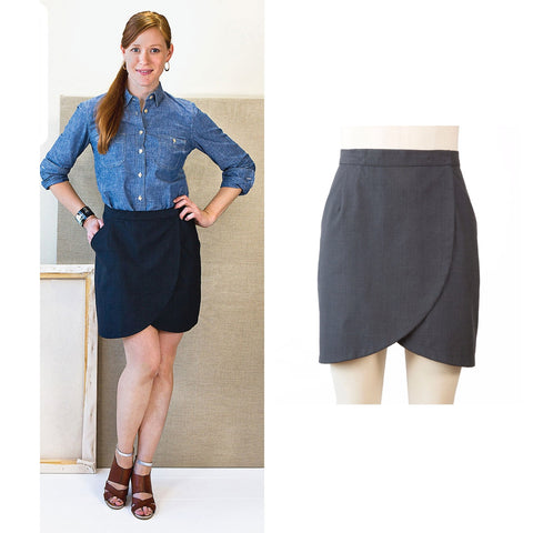 Liesl + Co. City Stroll Wrap Skirt