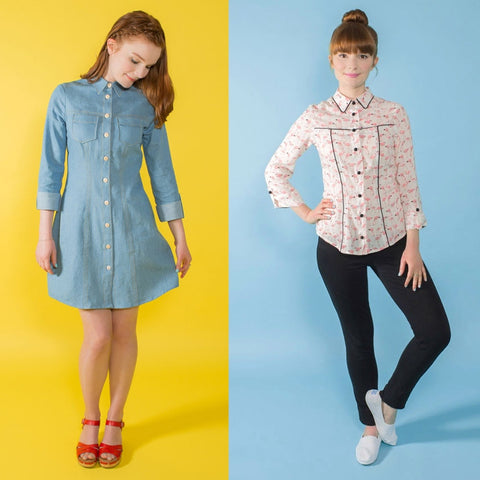 Tilly and the Buttons Rosa Shirt and Shirt Dress