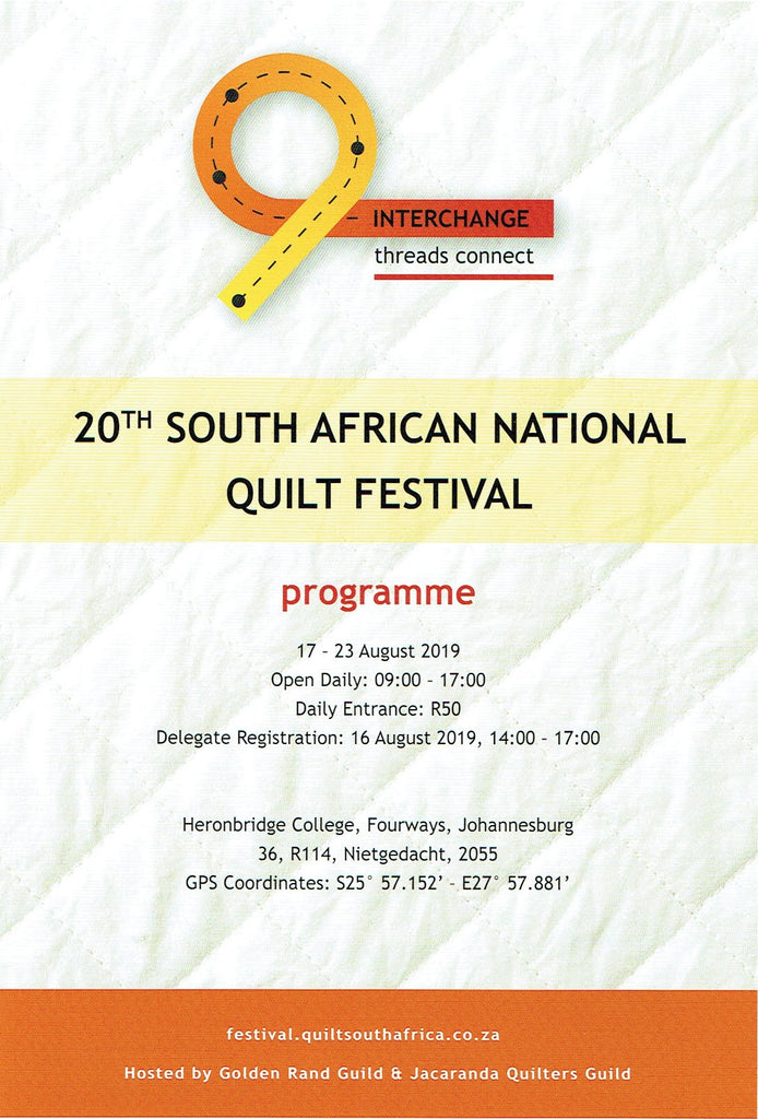 20th SOUTH AFRICAN NATIONAL QUILTFESTIVAL