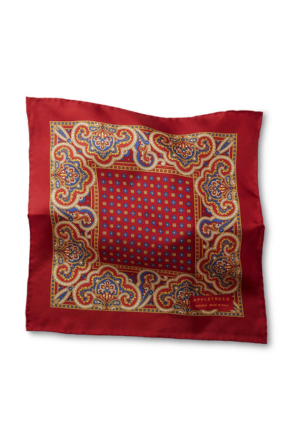 SILK POCKET SQUARE 33*33 RED