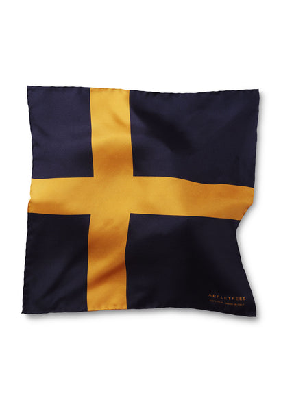 SILK POCKET SQUARE 33*33 SWEDISH FLAG