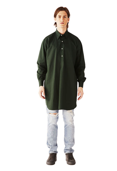 ALL OVER THE WORLD shirt SUPERFINE POPLIN EXCLUSIVE GREEN