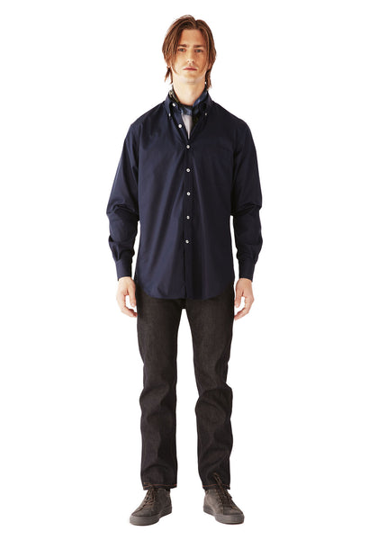 CASUAL SHIRT SUPERFINE POPLIN MIDNIGHT BLUE