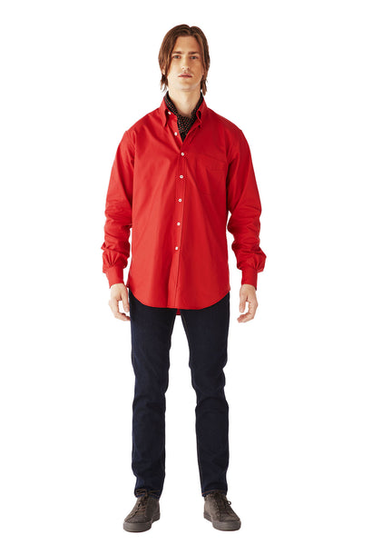 CASUAL SHIRT ULTRA SOFT OXFORD RED