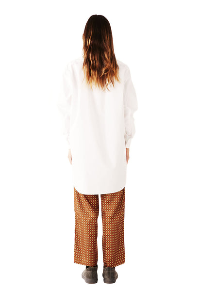 ALL OVER THE WORLD shirt SUPERFINE POPLIN  WHITE