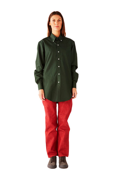 CASUAL SHIRT SUPERFINE POPLIN EXCLUCIVE GREEN