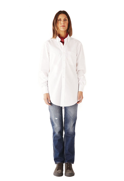 CASUAL SHIRT SUPERFINE POPLIN  WHITE