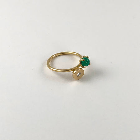 Smaragd - Diamant Ring
