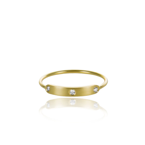 Mini • Signet • Gold • Diamond
