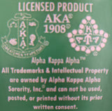 AKA Green Letter Set Patches 3 Inches