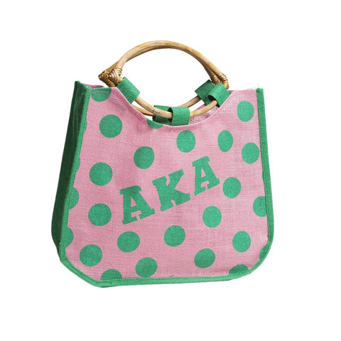 AKA Polka Dot Jute Bag