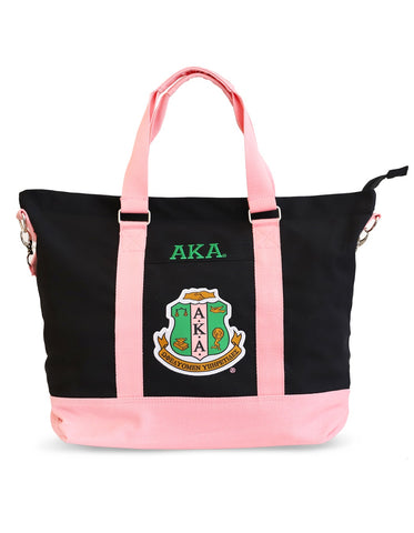 AKA Canvas Script Tote Bag