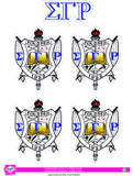 SGRho Crest Sticker Sheet