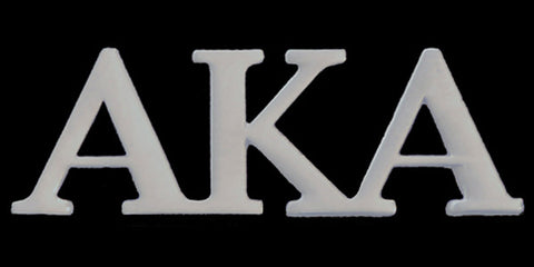 AKA Silver Greek Letter Lapel Pins