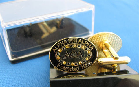 Alpha Bling Cuff Links