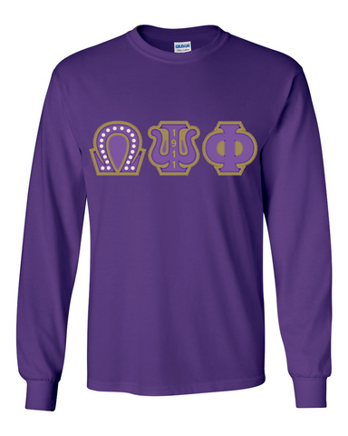 Omega Pearls Applique Long Sleeve Tee