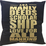 Alpha Motto Pillow