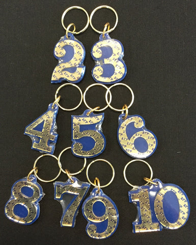 SGRho Single Number Keychain