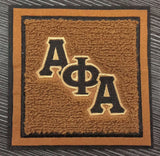 Alpha Chenille Coaster Set