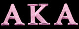 AKA Pink 3 Letter Patch 1 Inch