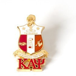 Kappa 3-D Shield Pin w/ Letters