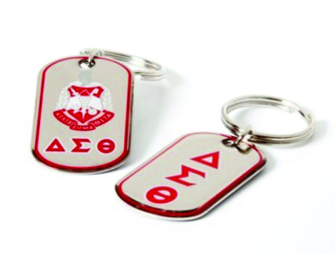 Delta Dog Tag Keyring
