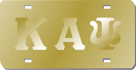 Kappa Gold Mirror Satin Auto Tag