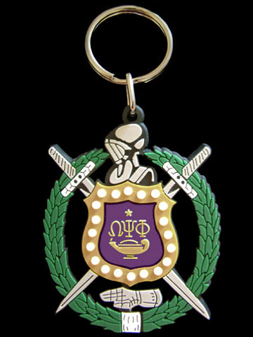 Omega Shield PVC Key Chain