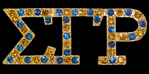 SGRho Gold Austrian Multi Crystal Pin