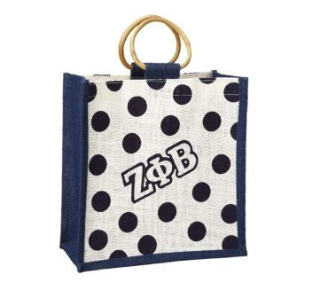 Zeta Mini Polka Dot Jute Bag