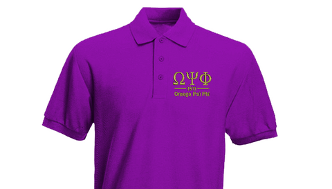 Omega Greek Letter Polo