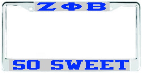 Zeta So Sweet Auto Frame Silver/Royal