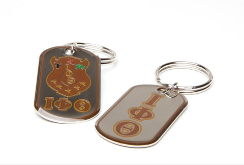 Iota Dog Tag Keyring