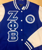 Zeta Fleece Letterman Jacket