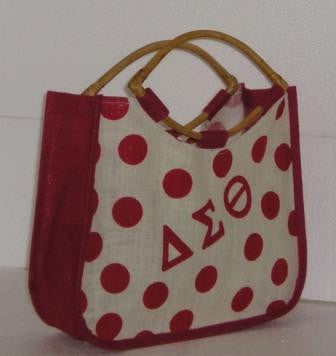 Delta Polka Dot Jute Bag