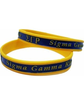 SGRho Two Toned Silicone Wristband