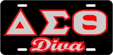 Delta Diva Tag Black/Silver/Red