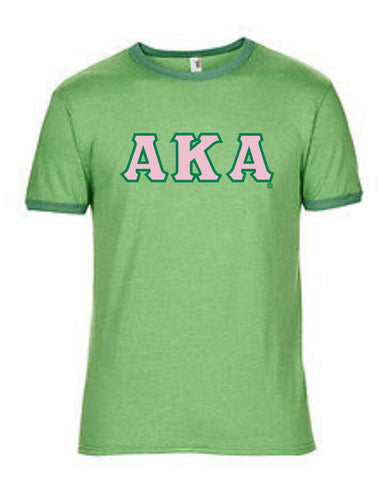AKA Basic Fitted Heather Ringer T