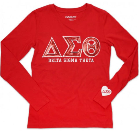 Delta Sequined Long Sleeve Tee