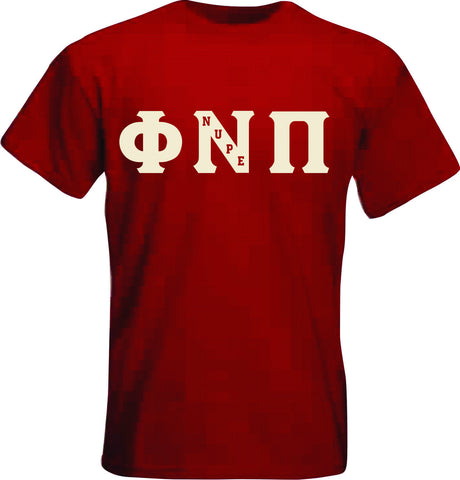 Kappa Phi Nu Pi Single Applique Tee